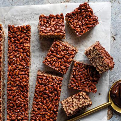 Chocolate ganache Rice Krispies