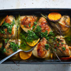 Citrus chicken with chimichurri