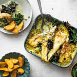 Creamed-spinach-baked-hake