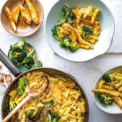 Creamy chicken-and-broccoli pasta