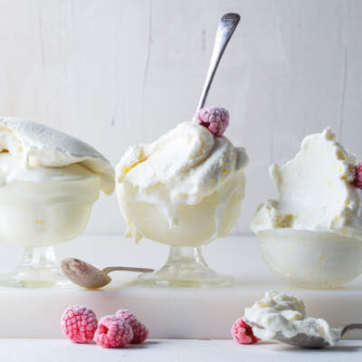 Salted lemon-and-coconut ice cream