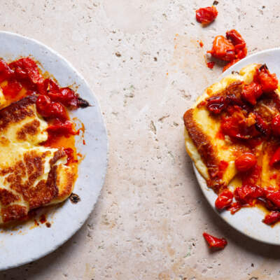 Smashed tomato-and-red pepper smoor