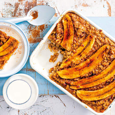 Banana-and-oatmeal bake
