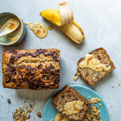 Banana-and-date loaf