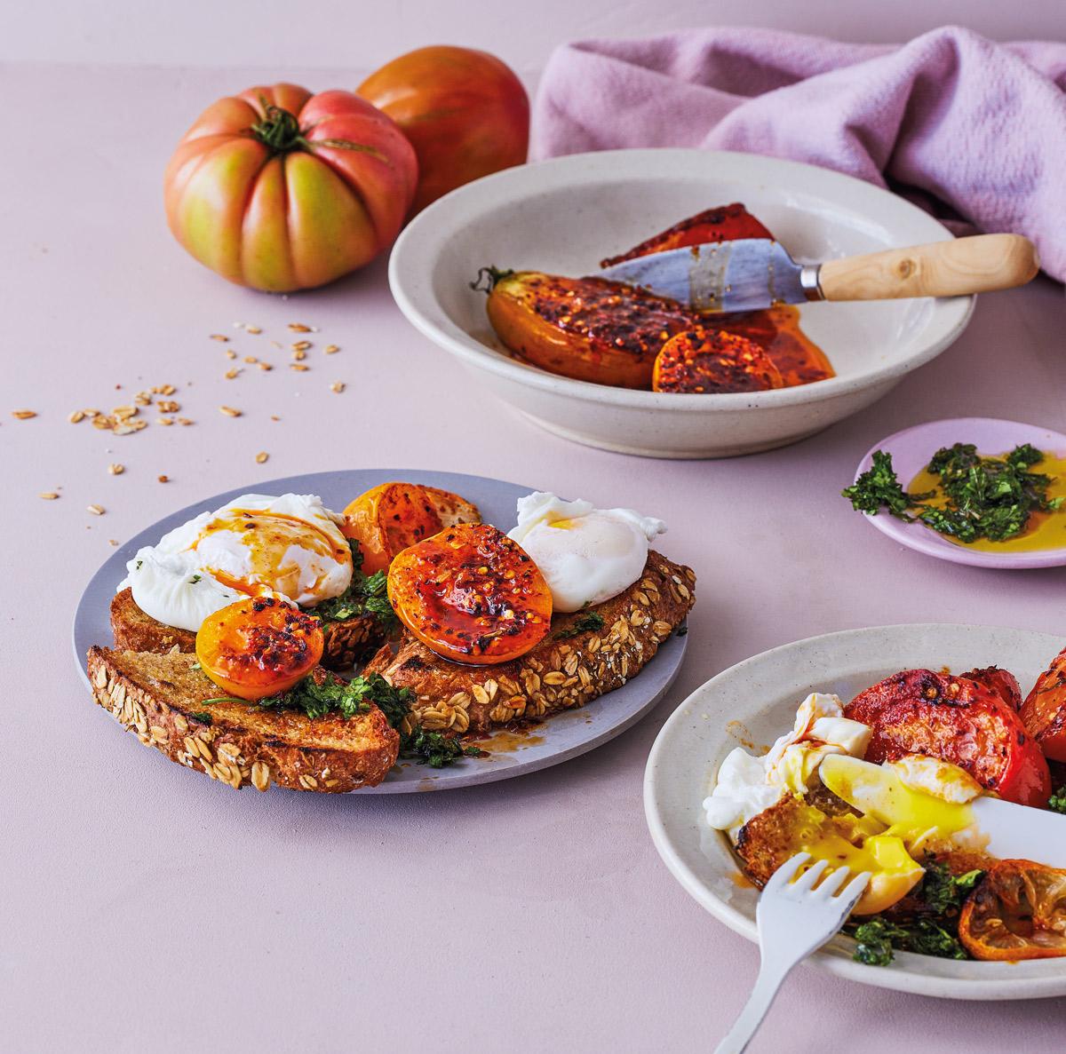 Oven-baked-tomato-toast
