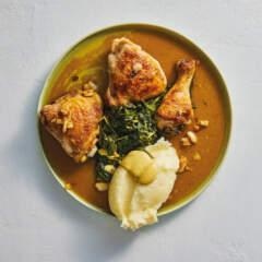 Roast chicken with vinegar sauce