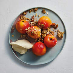 Vinegar-poached nectarines