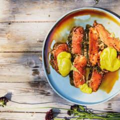 Braaied salmon escabeche
