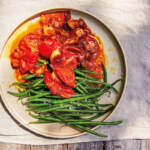 Green-beans-with-stewed-tomatoes