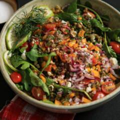 Letlhodi/lentil salad