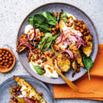 Roast-sweet-potato-with-crispy-harissa-chickpeas