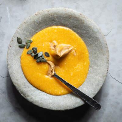 Kgodu  (pumpkin, peanut and maize porridge)