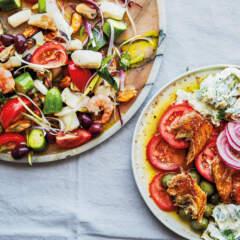Seafood mix Greek salad