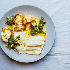 White fish with lemon salsa