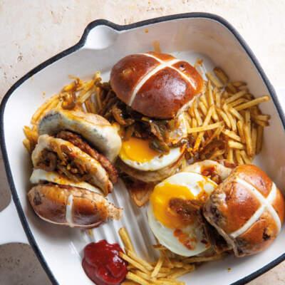 Breakfast hot cross buns