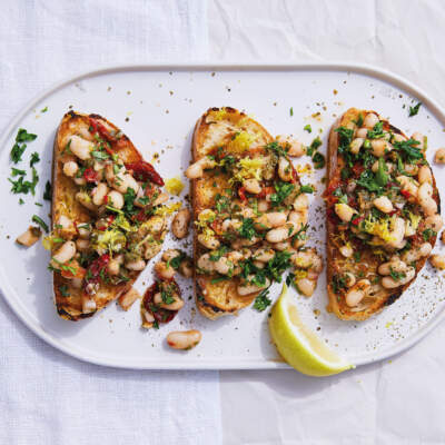 Cannellini beans on toast