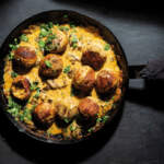 Chicken-meatballs-in-a-creamy-sauce