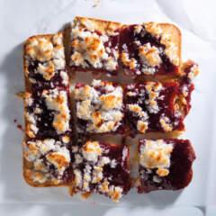 Coconut-and-jam shortbread