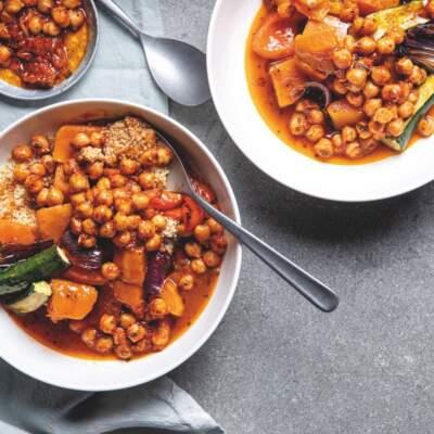 Moroccan roast veggies with chickpeas