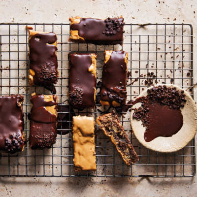 Peanut butter, chocolate and coconut bars