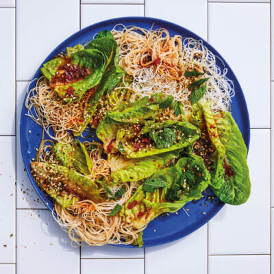 Pickled Romaine lettuce salad