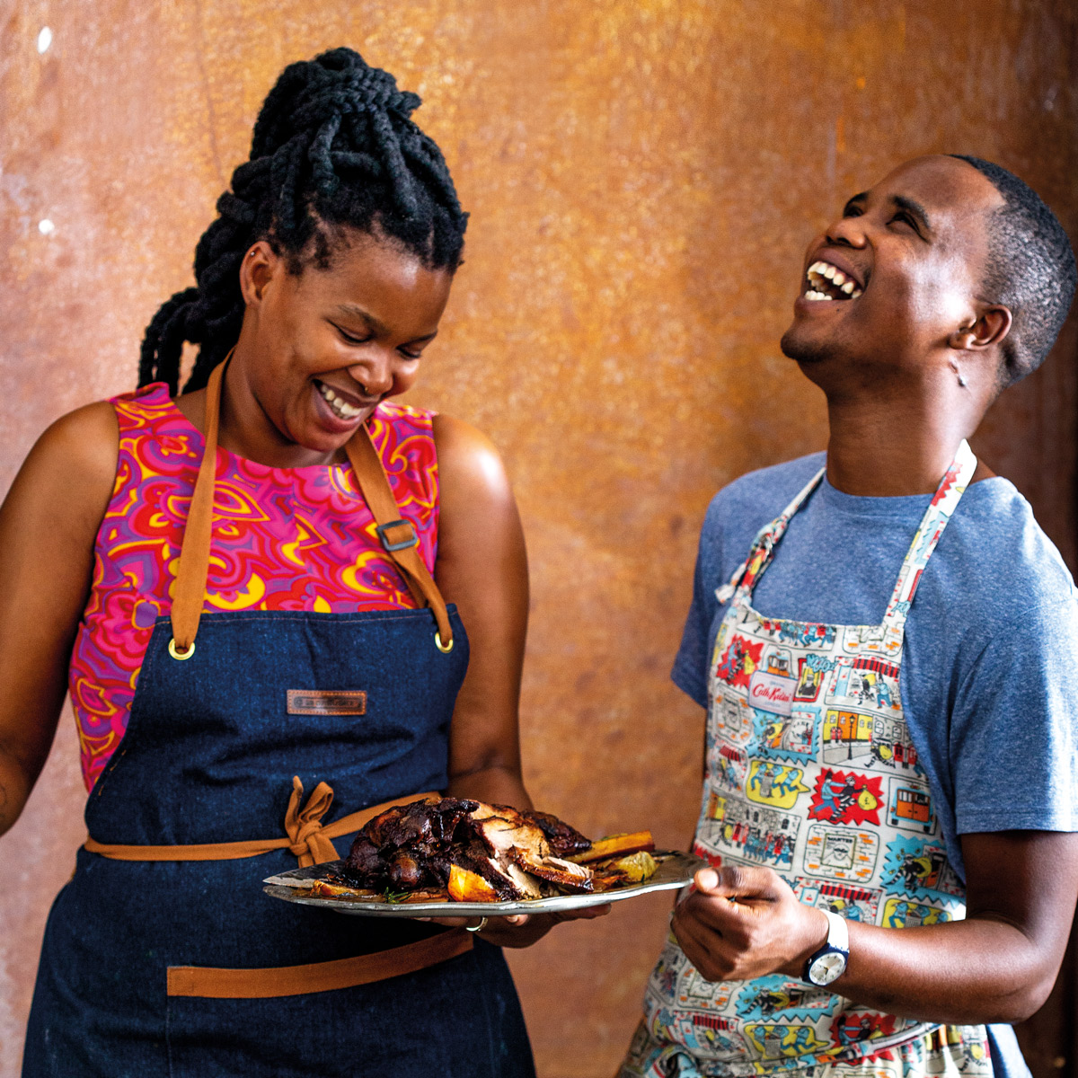 Khanya Mzongwana and chef Ayanda Matomela