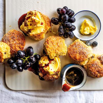 Amasi-and-raisin scones