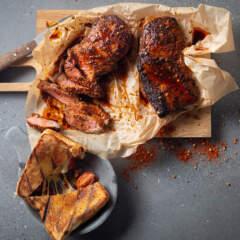 Bertus Basson's ultimate braaibroodjie and braaied rump steak