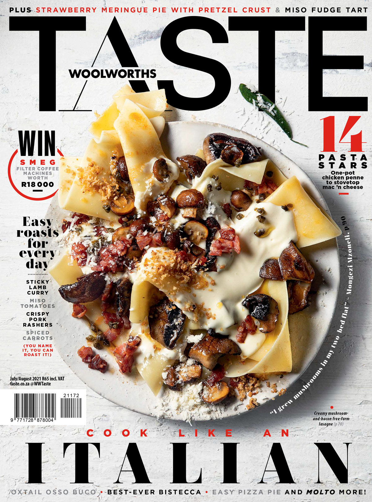 TASTE July/August cover 2021