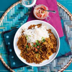 Cape Malay lentil curry