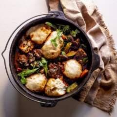 Inyama namadombolo (lamb shin with dumplings)