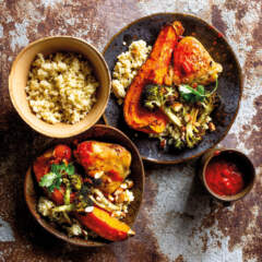 Roast chicken with millet couscous