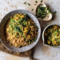 Toasted barley with creamy butter beans