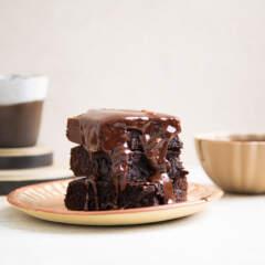 Fudgy coffee-spiked brownies