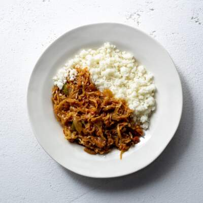 Uphuthu nekabishi (dry pap with cabbage stew)