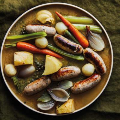 Easy sausage  bollito misto