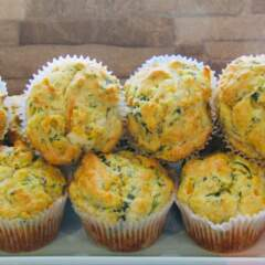 Kale & Mature White Cheddar Muffins