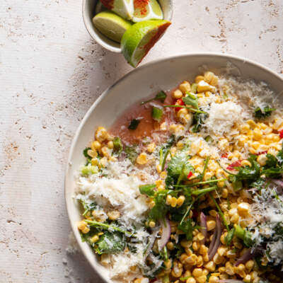 Corn, Parmesan and chilli salad