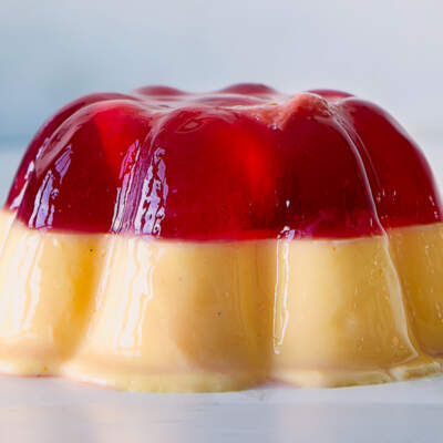 Jelly-and-custard moulds