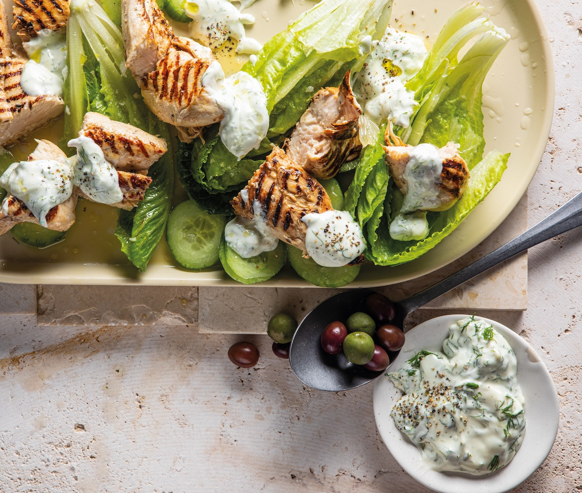 pickle brined chicken with ranch dressing