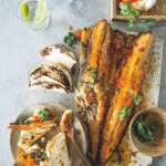 snoek tacos with sweet chilli and cream cheese