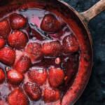 Stovetop spiced strawberry jam