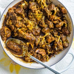 Goat and cabbage stew