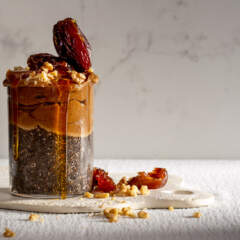 Salted caramel chia seed pudding