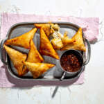 Cheese-and-sweetcorn samoosas
