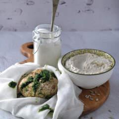 Herby vegan cheese